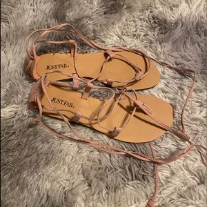 JustFab lace up sandals